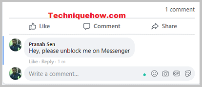post comments to unblock