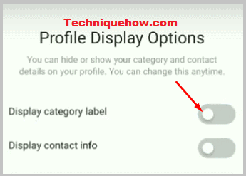 profile category label off