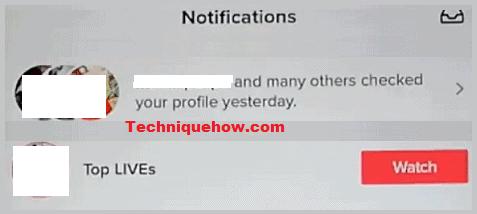 tiktok notifications who viewed