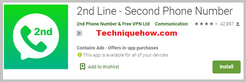 2nd Line - Second Phone Number app