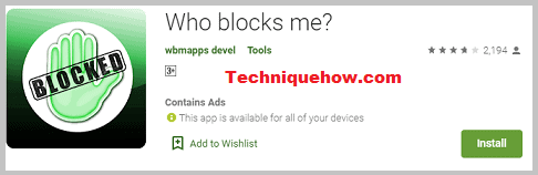 App - Who blocks me