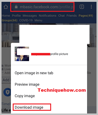 Download locked profile picture