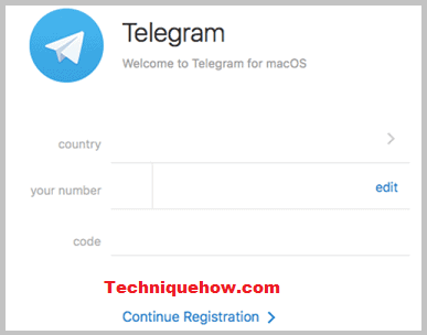Telegram registration steps