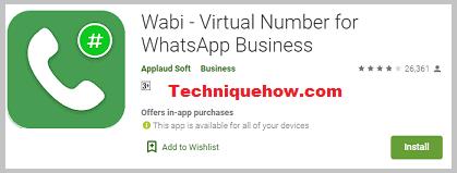 Wabi - Virtual Number for WhatsApp