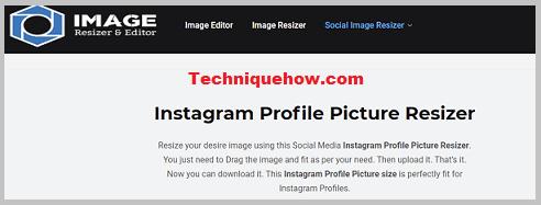 instagram profile picture resizer