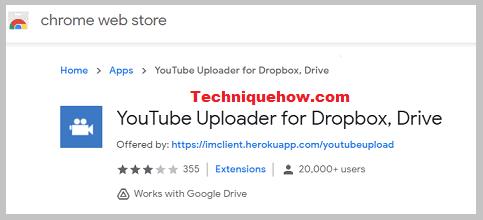 youtube uploader extension