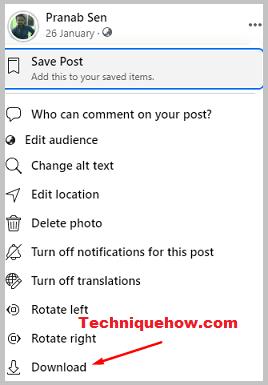 Download profile photo Facebook