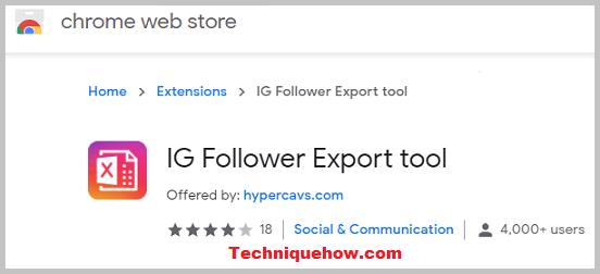 IG follower Export tool