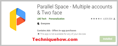 Parallel Space app
