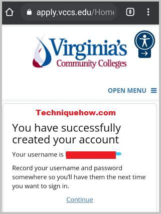 VCCS account created