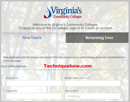 VCCS site page