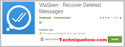 WaSeen - Recover Deleted Messages