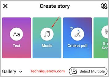 facebook story music mobile app
