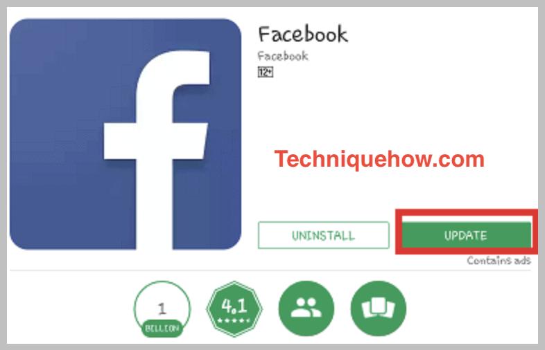 facebook update app