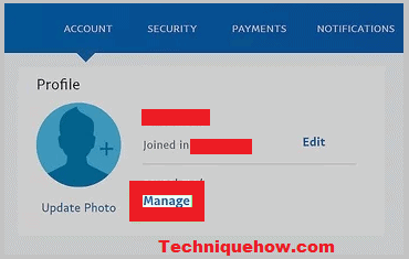 paypal link manage