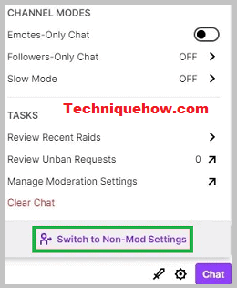 switch to non-mod settings twitch
