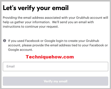 verify email grubhub