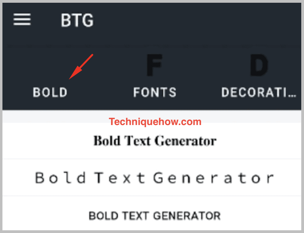 app for bold text