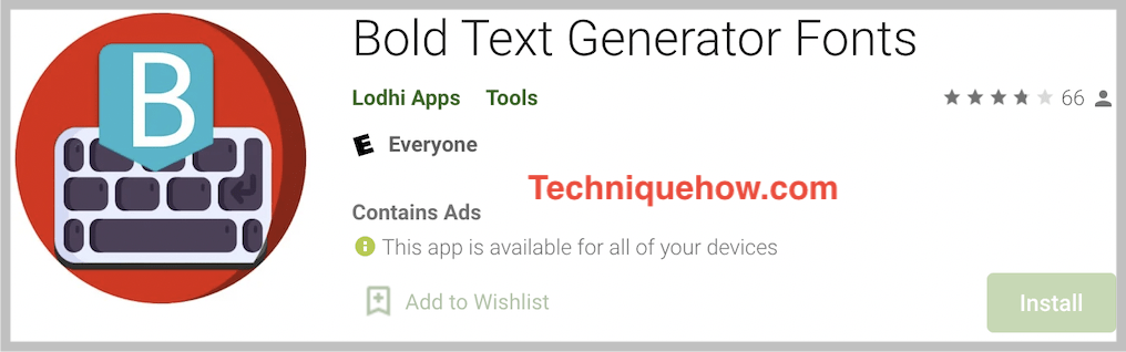 bold text generator app