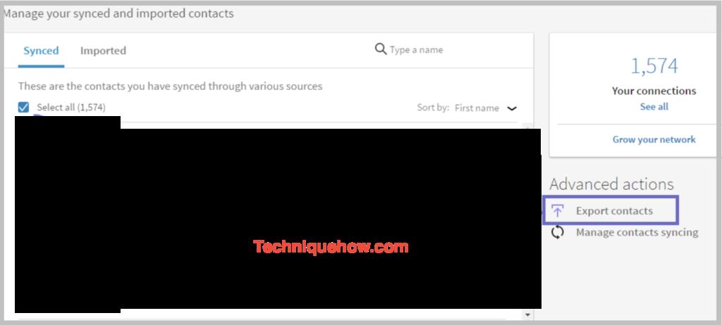 export contacts linkedin