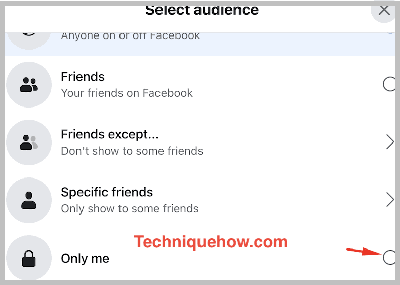 facebook only me settings