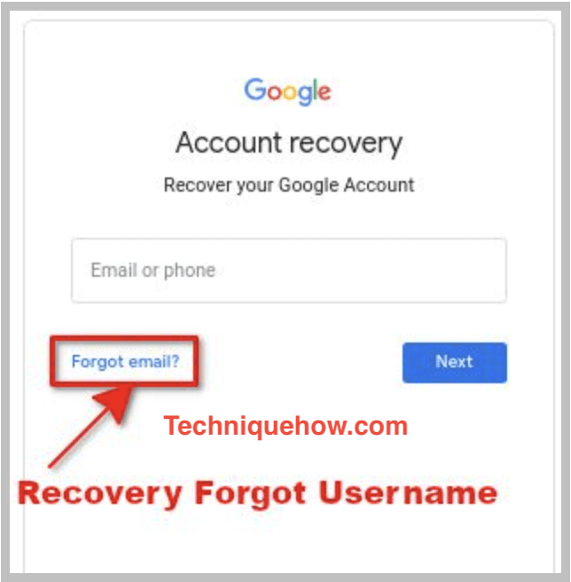recover google username