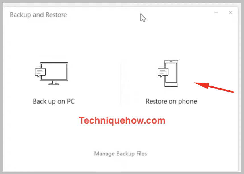 restore on phone from PC wechat
