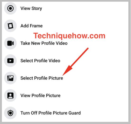 select profile picture change