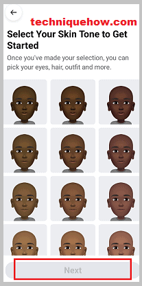 choose the avatar images