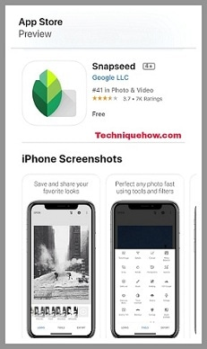 snapseed ios app