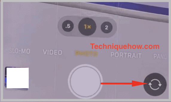 swipe right to record