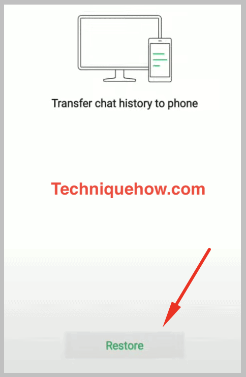 tap on restore on wechat phone