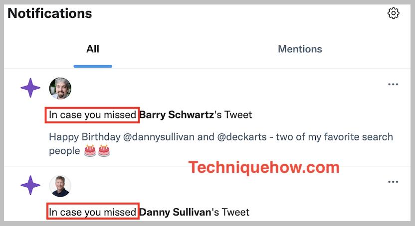 twitter alert of users