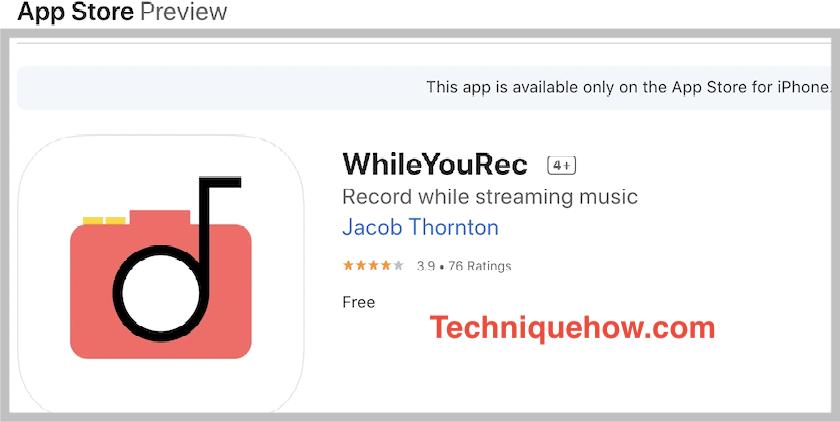 whileyourec app iphone