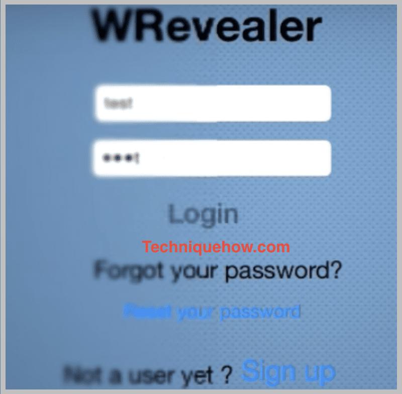 wrevealer tool-login